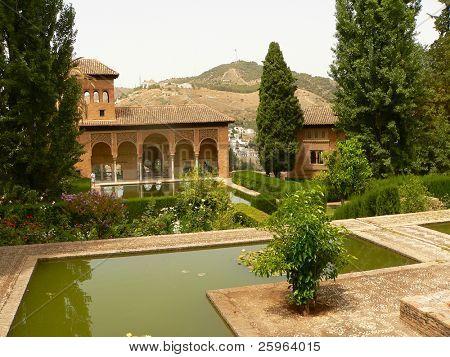 Alhambra parc view (Granada, Spain)