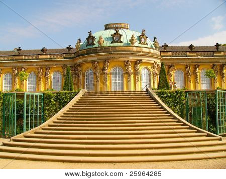 Sans Souci palace in Potsdam, Berlin, Germany, Europe.