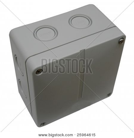 Plastic Installation box on white background