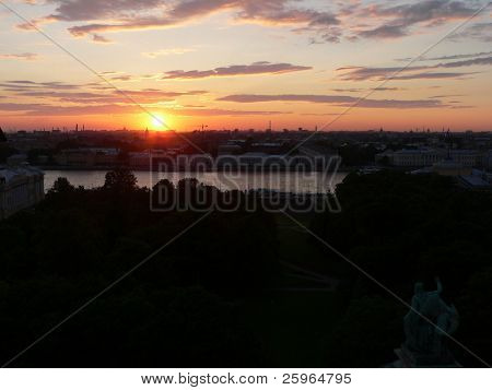 Sunset over St.Petersburg, Russia