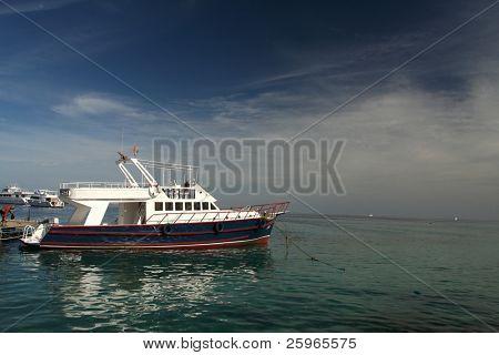 Reisen Schiff im Hafen