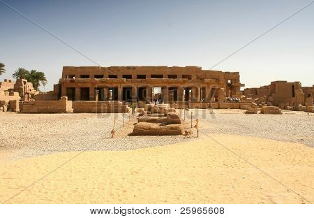 Hall of Festivals, Karnak, Luxor, Egypt. Built by Tuthmosis III on the occasion of his jubilee. The site was later converted into a Christian church.