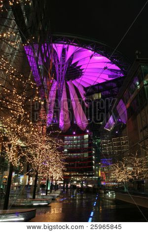 Potsdamer platz (sony center) in Berlin, Europe.