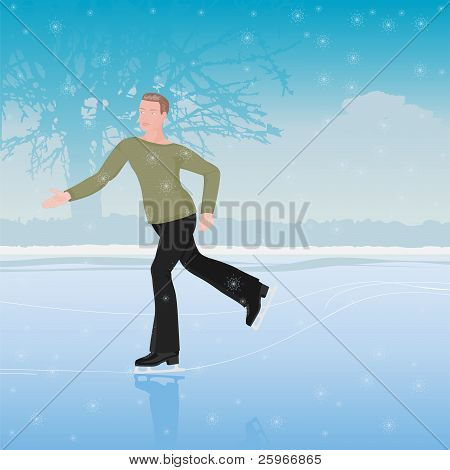 The Man On Skates