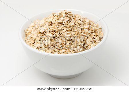 Porridge on a white background