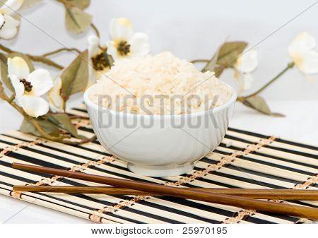 Rice as the Asiatic cuisine symbol