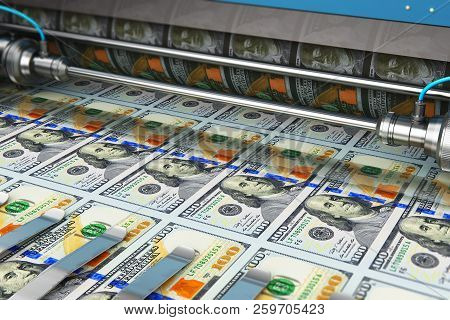 Printing 100 Us Dollar Usd