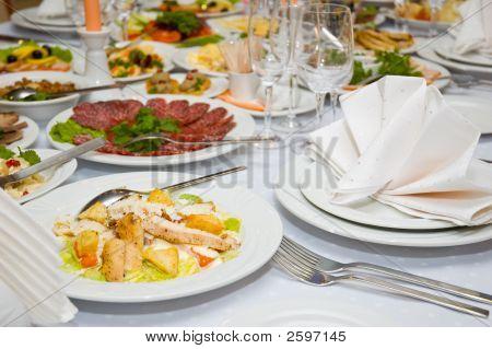 Luxus Bankett Tisch