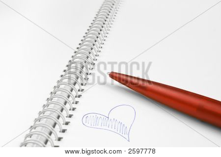 Spiral Notebook With Heart