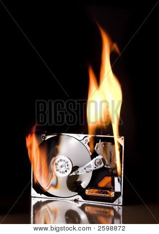 Hard Drive On Fire