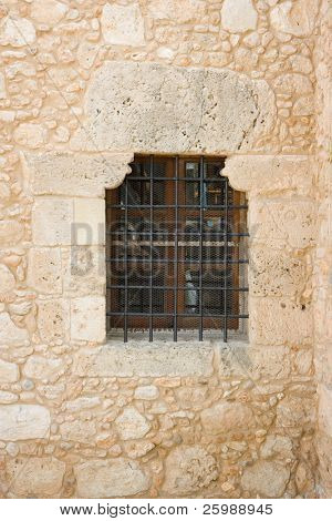Ancient  window of historical Greek ,  in Cyprus