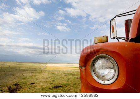 Grain Truck Abstract