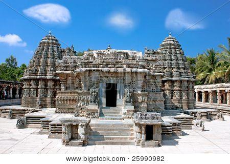 The astonishingly beautiful Keshava Temple in Somnathpur, Karnataka, India