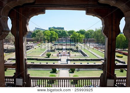 Garden of Shaniwar Wada Palace, Pune, India