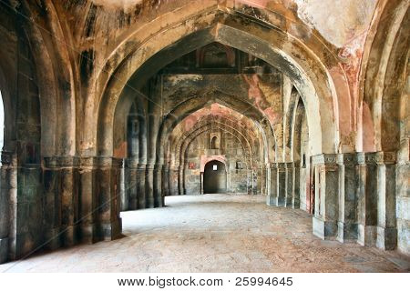 Passage of  Lodi Garden in Delhi city, India - Ancient Architecture