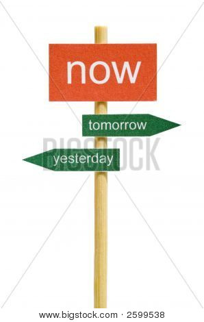 Photo Of Imitation Signboard On Time Concept, Isolated
