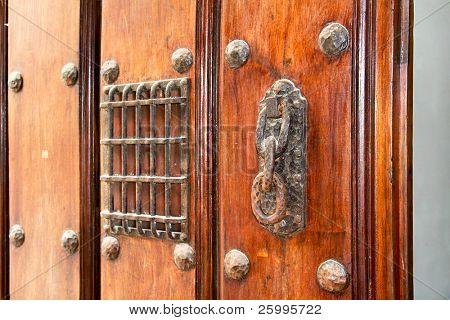 Old door handle colonial style, Havana , Cuba