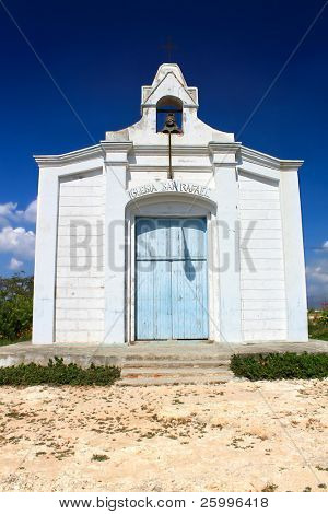 San Rafael church on very small island Cayo Granma near the Santiago de Cuba, Cuba