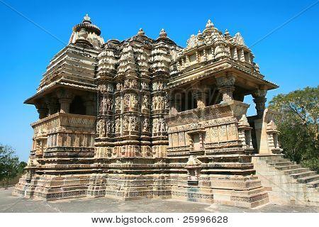 Devi Lucas templo, Grupo Ocidental, Khajuraho, Madhya Pradesh, Índia.