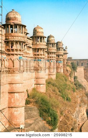 Gwalior Fort, hiiltop fort with spectacular views, Gwalior, Madhya Pradesh, India