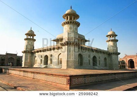 Itimad-ud-Daulah or Baby Taj in sunset,  Agra,Utar Pradesh,  India