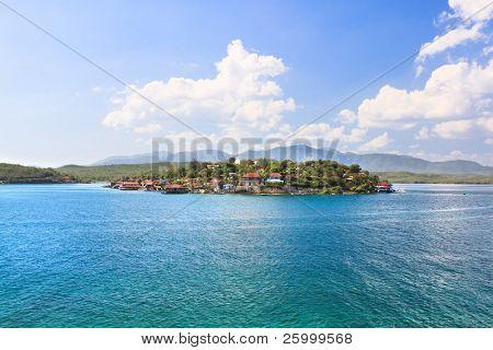 Fantasy small island Cayo Granma near the Santiago de Cuba, Cuba