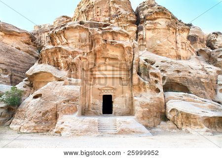 Temple in Little Petra, Siq al-Barid (Cold Canyon), Jordan