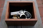 stock photo of derringer pistol  - Circa 1889 - JPG