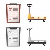 Isolated Object Of Goods And Cargo Icon. Collection Of Goods And Warehouse Stock Symbol For Web. poster
