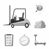 Isolated Object Of Goods And Cargo Sign. Collection Of Goods And Warehouse Vector Icon For Stock. poster