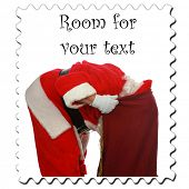 picture of santa claus hat  - Santa Claus Stamp - JPG