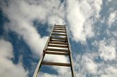 image of reach the stars  - ladder to success - JPG