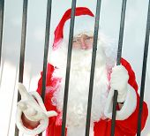 foto of 24th  - santa claus is behind bars in jail and needs your help to either be bailed out or escape before december 24th or there will no No Christmas for anyone this year - JPG