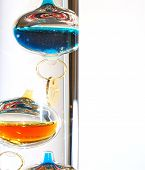pic of galileo-thermometer  - Based on a thermoscope invented by Galileo Galilei in the early 1600s this thermometer is called a Galileo thermometer - JPG