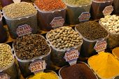 Turkish spices at the Egyptian Market in Istanbul, Turkey