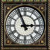 Постер, плакат: Циферблат Биг Бен в Лондоне Великобритания