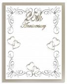 25Th Anniversary Card Canvas