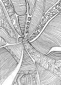 Coloring Page Abstract Pattern, Maze Of Ornaments. Psychedelic S poster