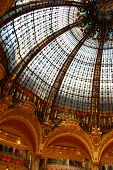 Galleries Lafayette dome, in the center of Paris, France