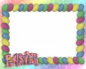 stock photo of happy easter  - Illustration and image composition for Easter frame background or border - JPG