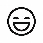 Happy Smile Icon Isolated On White Background. Happy Smile Icon In Trendy Design Style. Happy Smile  poster