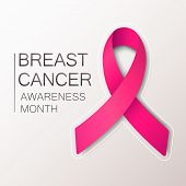 Breast Cancer Awareness Ribbon Background. Pink Ribbon, Breast Cancer Awareness Symbol. Vector Eps 1 poster