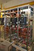 picture of busbar  - Motor control center with automatic switches - JPG
