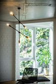 Decoration Of The Apartments. Chandelier And Lighting In A Modern Apartment. poster