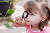 stock photo of naturalist  - Little naturalist Outdoors - JPG