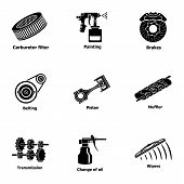 Fix Machinery Icons Set. Simple Set Of 9 Fix Machinery Vector Icons For Web Isolated On White Backgr poster