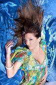 image of good-looker  - Beautiful brunette posing - JPG
