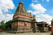 stock photo of lingam  - Ghrishneshwar Shiva Temple with holy jyotir lingam - JPG