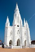 stock photo of kanyakumari  - Catholic  Church in Kanyakumari - JPG