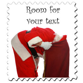 foto of santa claus hat  - Santa Claus Stamp - JPG